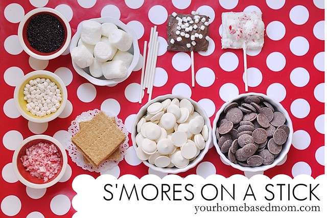 S'mores on a stick ingredients
