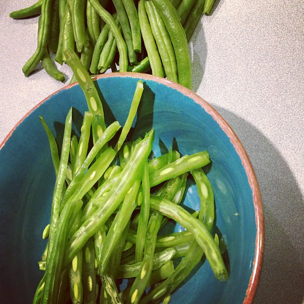 My first ever French-style green beans. Wish me luck!