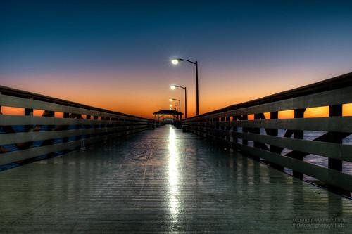 ocean morning seascape sunrise landscape pier nikon tampabay 28mm hdr ballastpoint