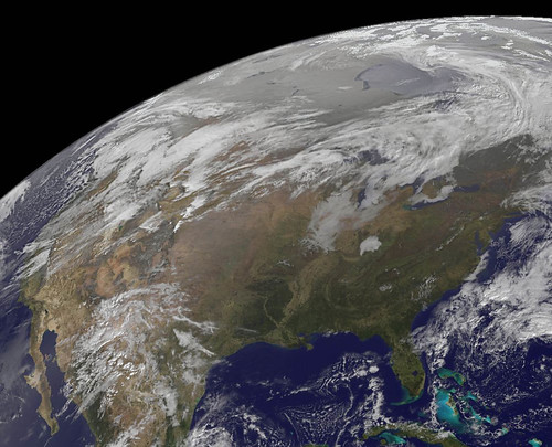 Satellite Sees a Decent Pre-Thanksgiving Travel Day in Much of the U.S.