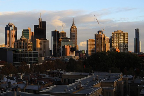 East end of the Melbourne CBD