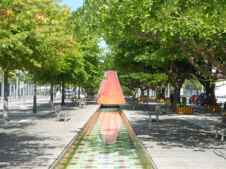 Sculpture and Water Feature Near Lisbon Aquarium