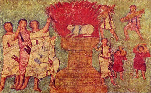 Dura_Europos_fresco_worshipping_gold_calf