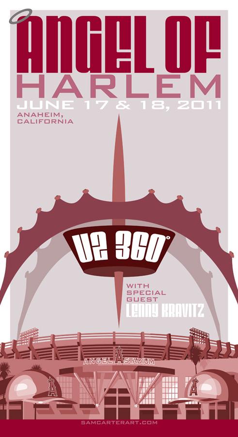 U2 360 Anaheim poster