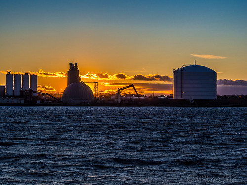 Industrial Sunset by MStoeckle