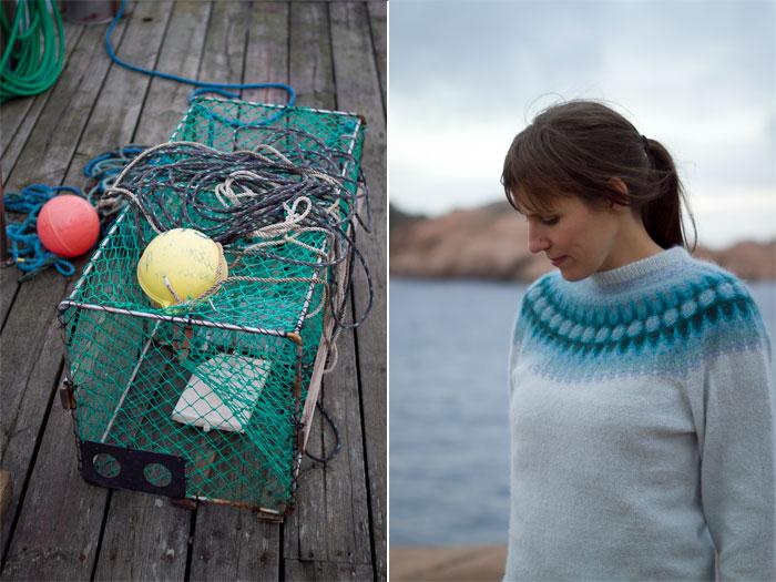 Bohus Stickning – Blå Blomman