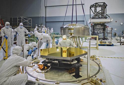 Reflection in a Webb Telescope Mirror
