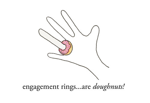 Engagement ring doughnut
