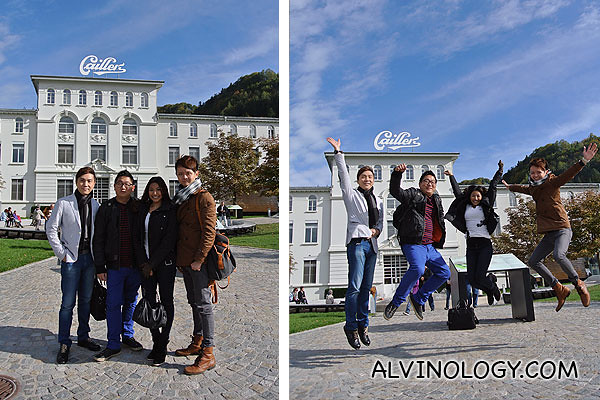 Jumpshot in front of Le Maison Callier
