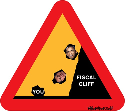 FISCAL CLIFF WARNING by Colonel Flick/WilliamBanzai7