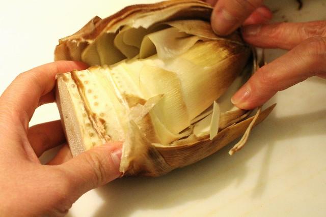 peeling fresh bamboo 6