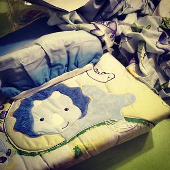Baby B's Dino bedding set...