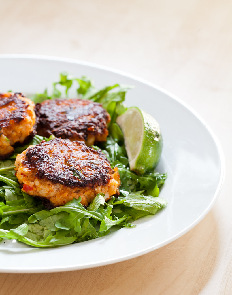 Harissa & Scallion Crab Cakes