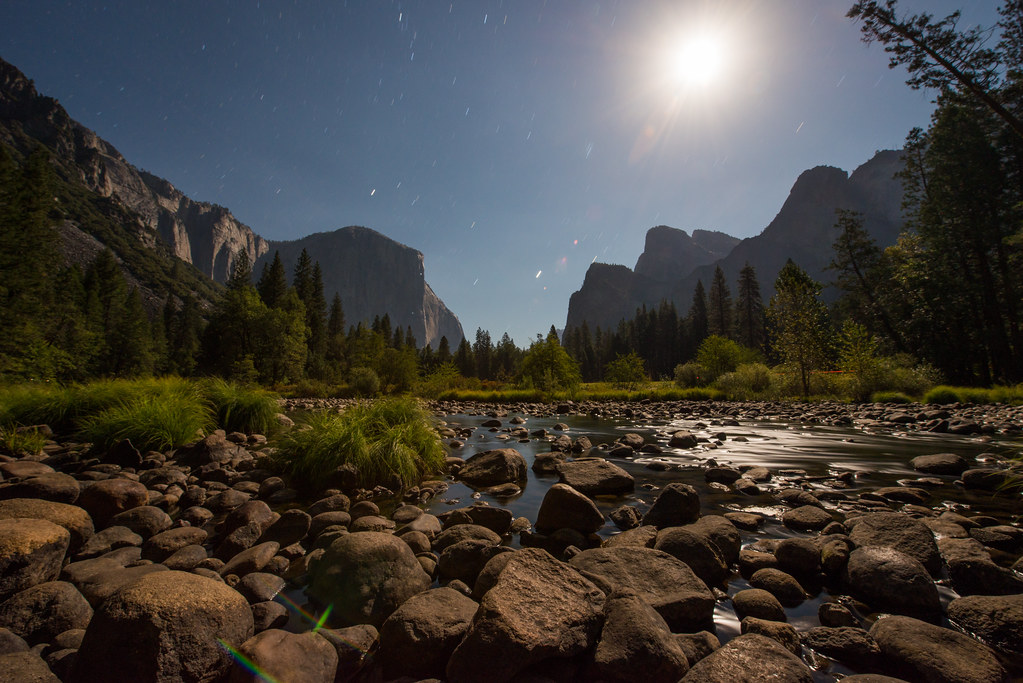 Valley View by Moonlight