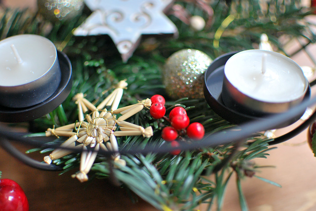 diy adventskranz pixi mit milch. Black Bedroom Furniture Sets. Home Design Ideas