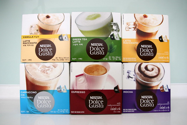 So many flavours - not just coffee but tea too!