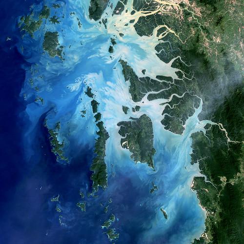 [フリー画像素材] 自然風景, 海, 衛星画像, 風景 - ミャンマー ID:201212071600