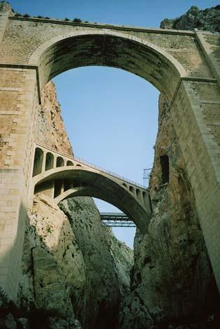 Bridges in Mascarat Gorge