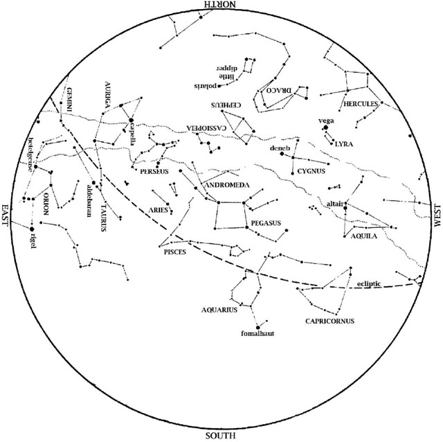 Sky Map November 2012