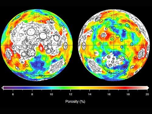 GRAIL mappa della densità della Luna