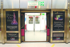 Set the Season Aglow Campaign MRT Train Door