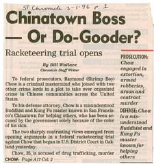 Chinatown Boss - or Do-Gooder?: Racketeering trial opens (1 of 2)
