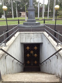 Image of Royal Mausoleum of Hawaii near Honolulu. monument cemetery graveyard stairs underground hawaii state oahu kamehameha tomb royal historic mausoleum honolulu dynasty kalakaua maunaala