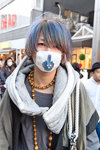 Blue-Green Hair in Harajuku