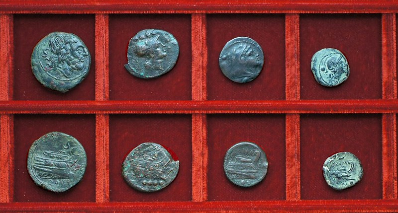 RRC 100 CA Canusium bronzes, Ahala collection, coins of the Roman Republic
