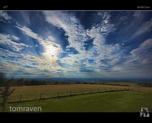 blue sky sun clouds scotland sony sigma bigsky alpha drama hdr a77 forres findhorn tomraven bestcapturesaoi aravenimage califerhill rememberthatmomentlevel1 rememberthatmomentlevel2 rememberthatmomentlevel3 q42012