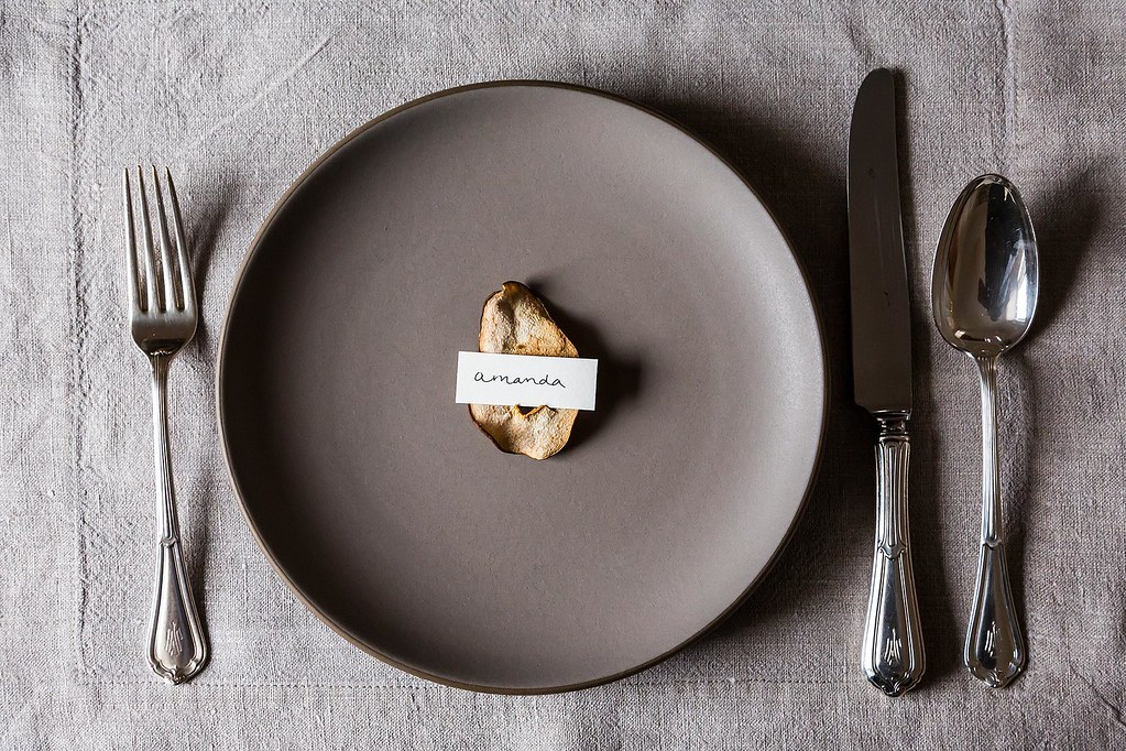 The DIY Place Card Holder: Cocoa Pear Crisps