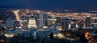 Night View of Salt Lake City