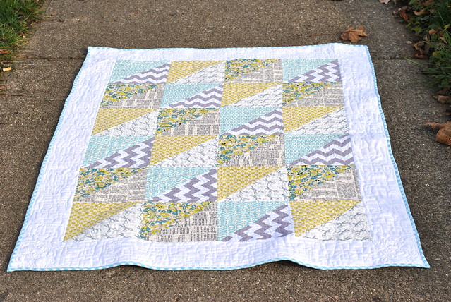 Quick Triangles Baby Quilt