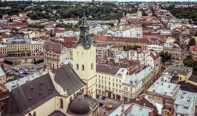 Lviv: View from City Hall Tower