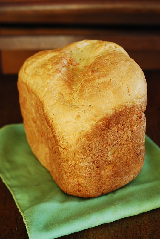 Basic white bread made in a bread machine