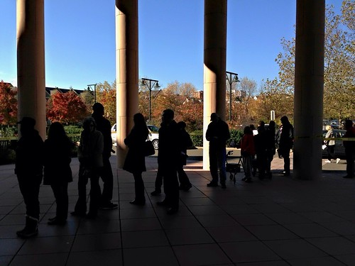 Election Day queue in Alexandria, Virginia