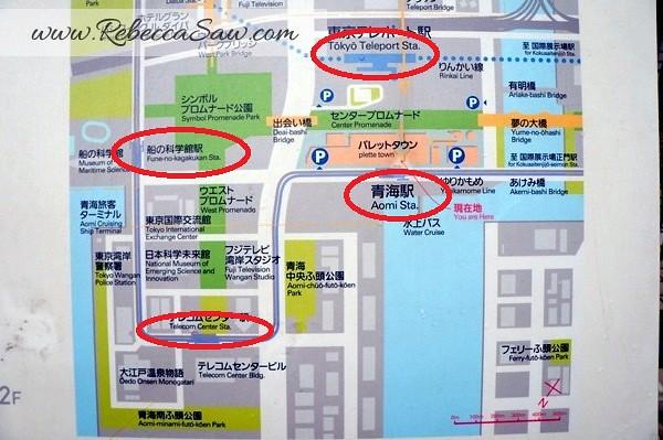 Odaiba Tokyo - map - rebeccasawblog