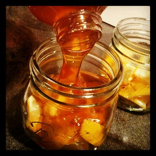 Making lemon honey tea base for the first time. #tea #honey #homemade #winter #teabase #diy #masonjars #lemon #cozy #cold