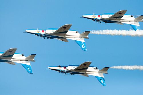 航空自衛隊 ブルーインパルス (JASDF Blue Impulse) フォー・シップ・インバート