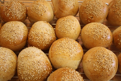 "Sesame ""rundstykker"" rolls"