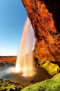 Sunset Iceland Waterfall - Seljalandsfoss