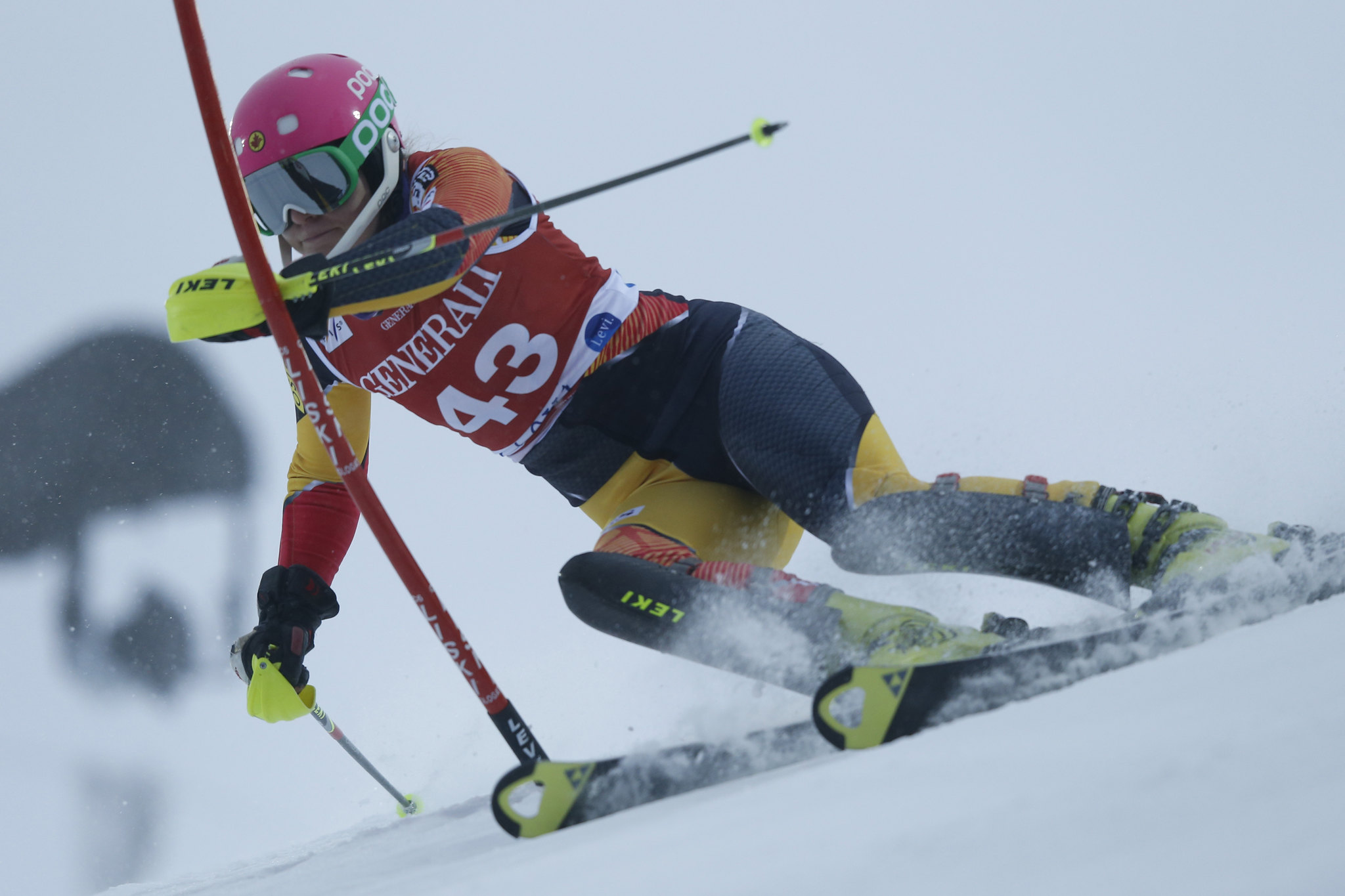 Elli Terwiel during the Levi World Cup slalom.