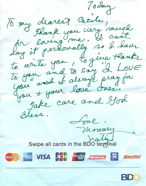 Note from Mommy