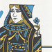 queen of hearts - blue yellow