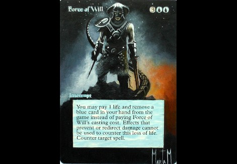 Force of Will altered Art Skyrim mtg artwork Marta Molina