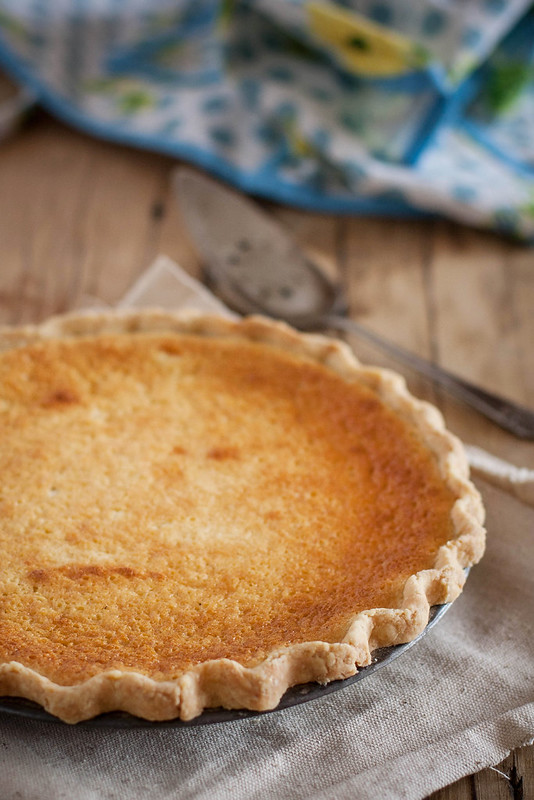 buttermilk pie in a cornmeal & lard crust