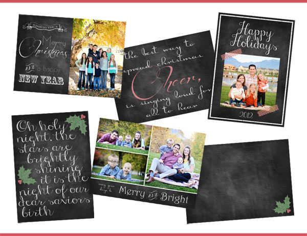 FREE Chalkboard Christmas Card Templates Chelsea Peterson Photography - Free christmas card templates for photographers