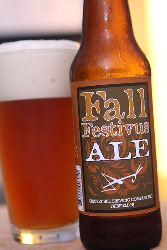 Cricket Hill Brewing Company Fall Festivus Ale