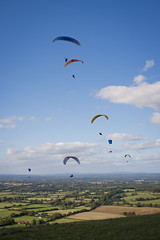 Hang-gliders at Devil's Dyke, East Sussex