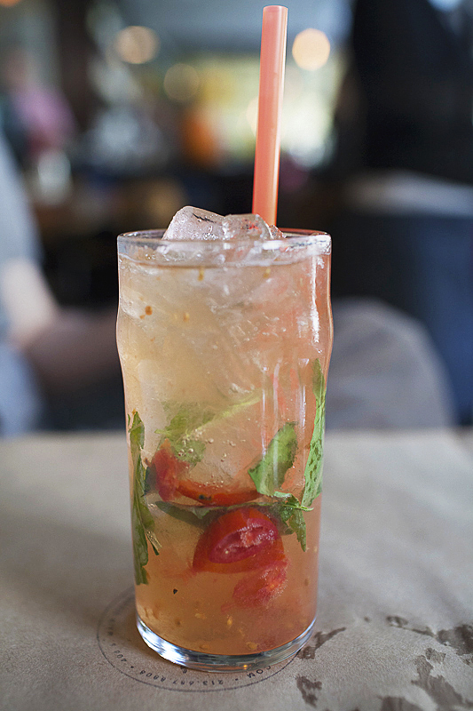 tomato basil vinegar soda: photo by Jackie Alpers